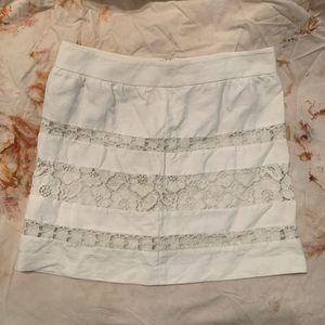 LOFT Lace panel Mini Skirt